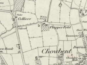 Collier Brook Farm shown on the Ordnance Survey Map, 1845. (Source: http://www.oldmapsonline.org/)