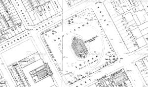 All Saint's, from an 1850s Map. (Source: http://digimap.edina.ac.uk/)