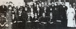 Belgian Refugees outside the Smallpox Hospital, October 1914 (Source: Leigh Chronicle, 23 October 1914, p. 18)