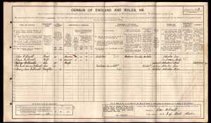 1911 Census; Halliwell Family. (Source: www.ancestry.co.uk)