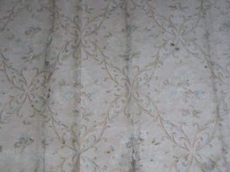 Surviving wallpaper at The Grange, Corragarry, Co. Monaghan (Source: Own Photograph, 2011)