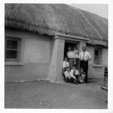 34. Dillon Family outside Curraheen Shallee  1967 (the house that Joe was born in)