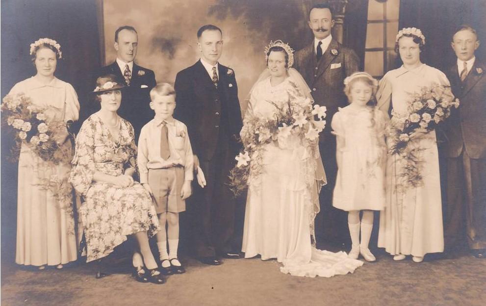 Ernest Eveline wedding pic and Lieut. Col. Gibson orbituaryjpeg
